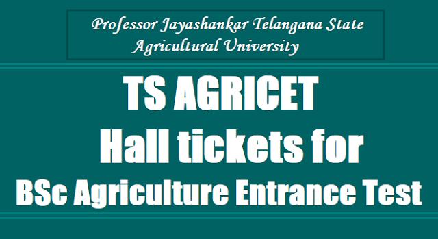 TS AGRICET 2019 Hall tickets for BSc Agriculture Entrance Test 2019 , Professor Jayashankar Telangana State Agricultural University