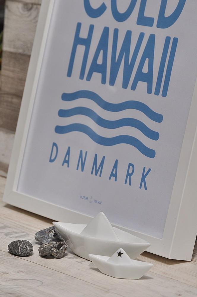 Bilderrahmen mit Poster maritim Boote