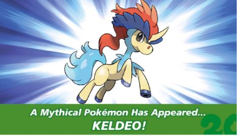 Evento de Keldeo disponible vía Nintendo Network