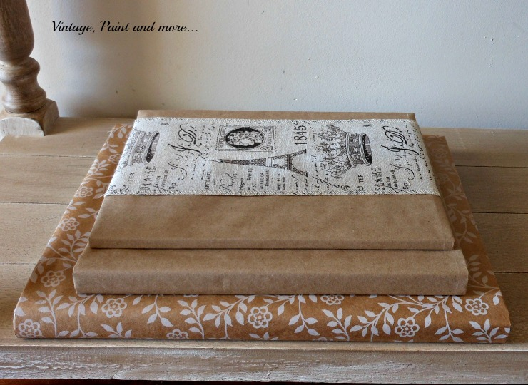 Vintage, Paint and more... books with DIY paper jackets