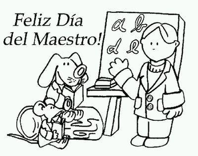 El Rincon De La Infancia Dibujos Para Pintar Del Dia Del Maestro