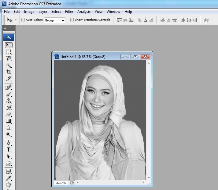 cara mudah membuat foto hitam putih sendiri