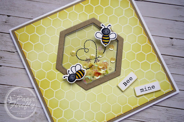 Bee mine Valentine's Day card using Meant to Bee stamps/dies from My Favorite Things