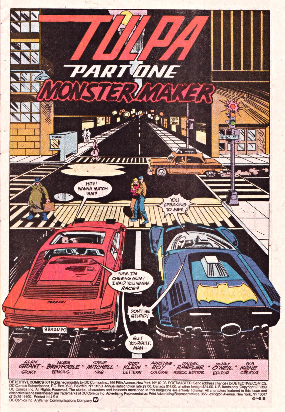 Detective Comics (1937) 601 Page 1