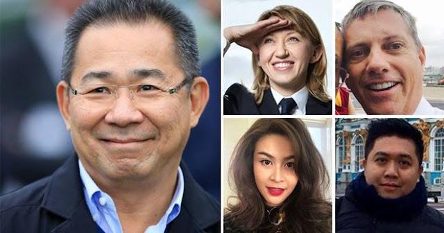 Á hậu Thái Lan 2005 và chủ tịch Leicester tử trên trên chiếc máy bay bị cháy