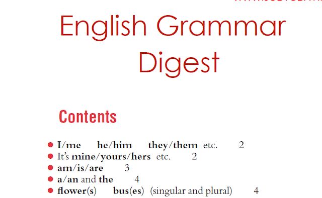 English Grammar Digest Download PDF Free – Competitive Exams