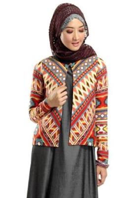 Desain Baju Batik Modern Long Dress