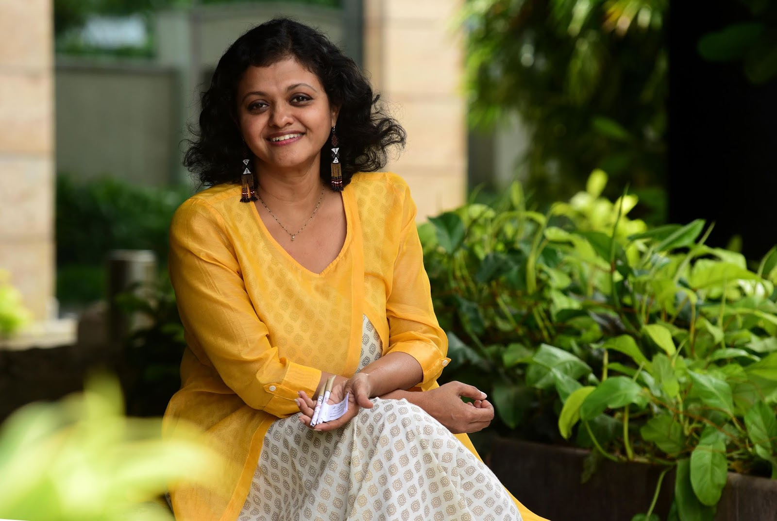 to lessen environmental damage social entrepreneur lakshmi menon has invented a paper pen which has a seed at one end instead of discarding the pen after
