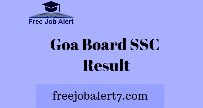 Goa Board SSC Result 2019, Check Goa Board 10th Class Result 2019
