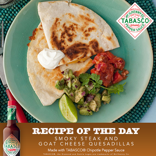 Smoky Steak and Goat Cheese Quesadilla Recipe