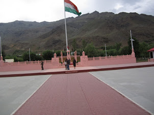 The Tallest Indian flag at :Memorial Epitaph in Kargil Memorial.