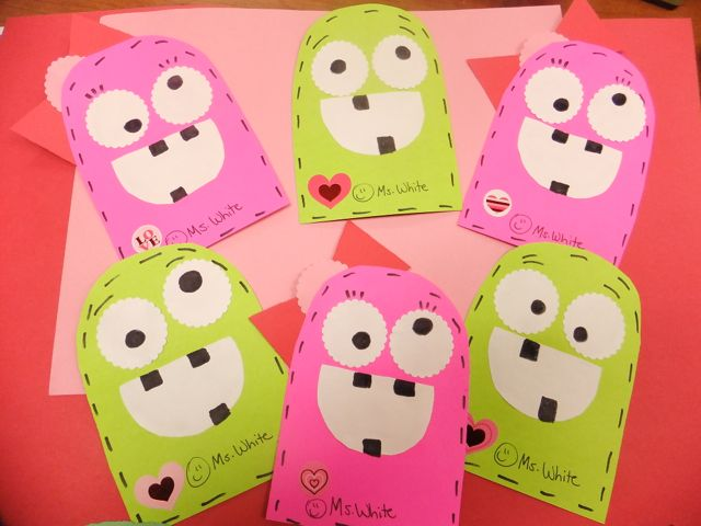 Valentines Exchange and Pics of the Day First Grade Blue Skies – Valentine Cards for Students