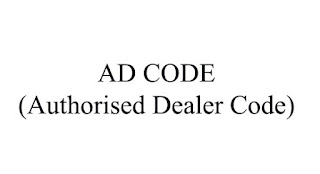 AD Code, Authorised Dealer Code