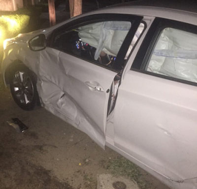 Photos: Comedian Bovi Sustains Eye Injury From Car Accident Last