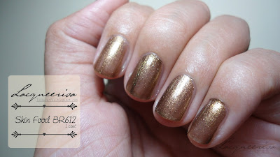 Review/Swatch: Skin Food BR612 Sparkling Nail Polish