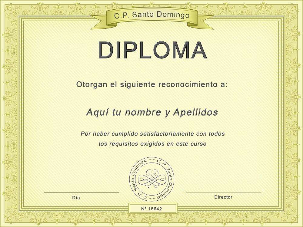 Plantilla psd para crear Diploma No13