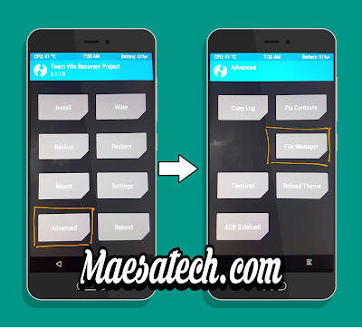 File Manager TWRP