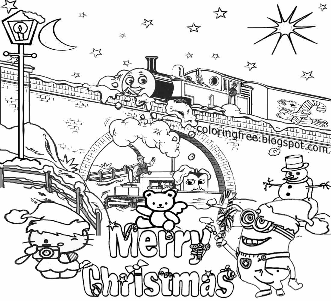 Bob Builder Thomas And Friends Cartoon Coloring Pages Of Christmas For Teenagers Difficult Clipart