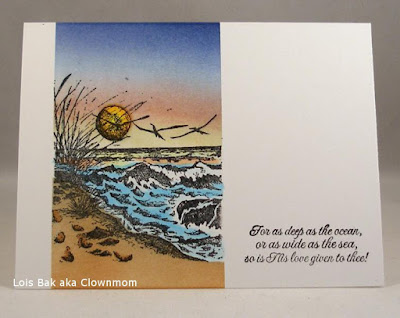 ODBD The Mighty Sea, Card Designer Lois Bak aka Clownmom