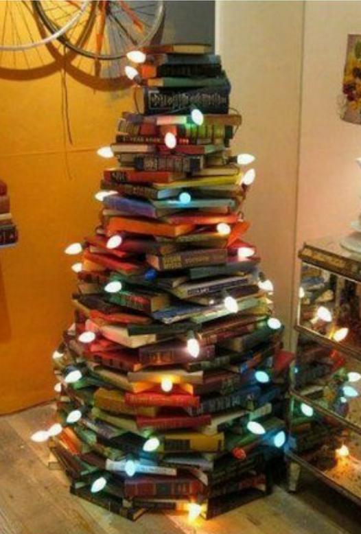 Árbol de navidad de para lectores