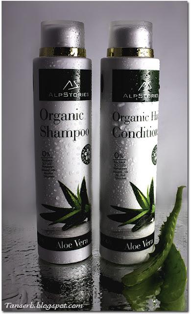 Органические шампунь и бальзам для волос AlpStories Organic Shampoo Aloe Vera & Organic Hair Conditioner Aloe Vera