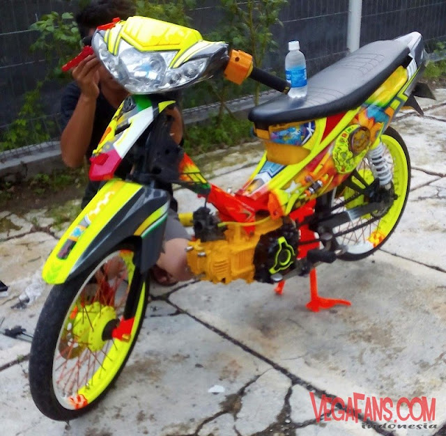 Vega R New Modif Airbrush Kuning