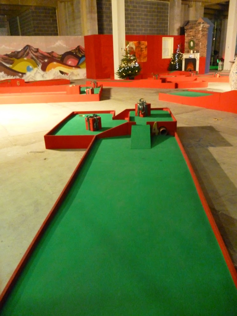 The Christmas-themed Minigolf 'Chrizy Golf' course in Manchester (2012)