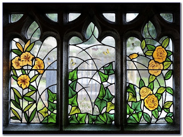 Medieval Stained GLASS WINDOW Film Pictures