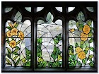 Medieval Stained GLASS WINDOW Film