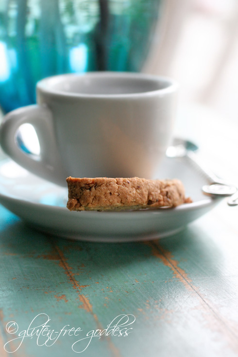 Gluten free anise biscotti with no sugar
