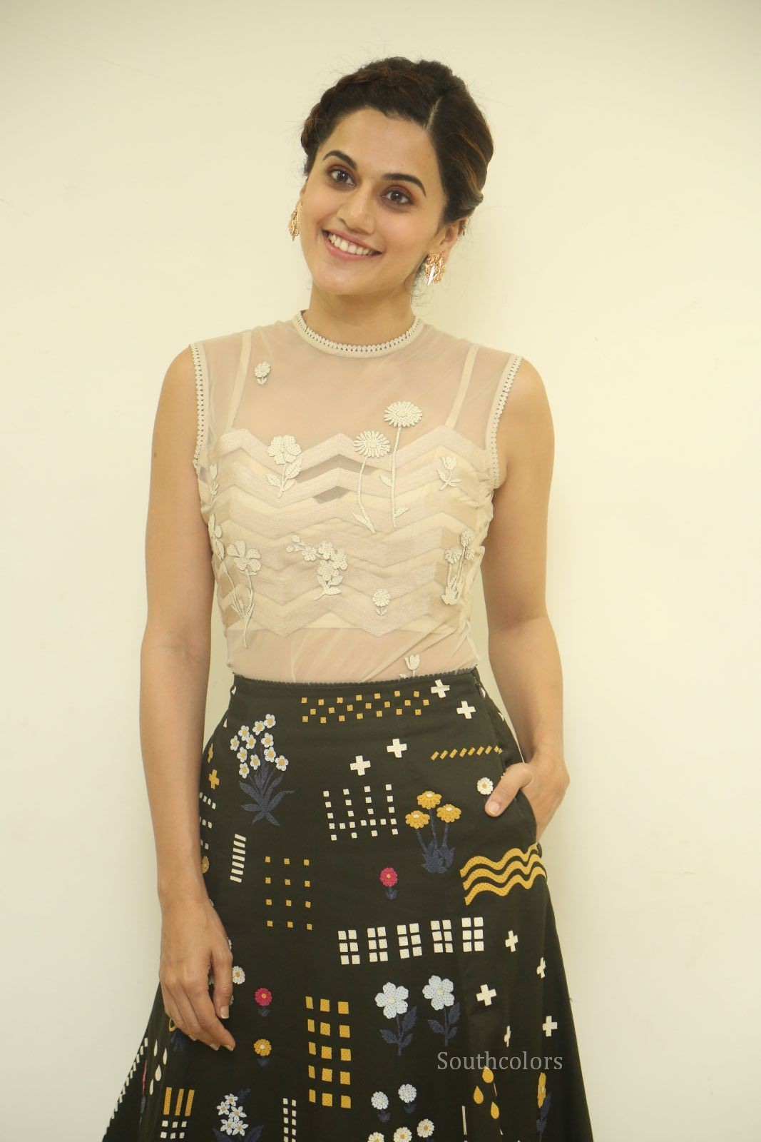 taapsee pannu stills at anando brahma trailer launch southcolors%2B%252816%2529