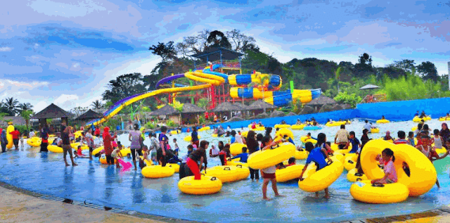 sangkat resort aqua park wisata kuningan