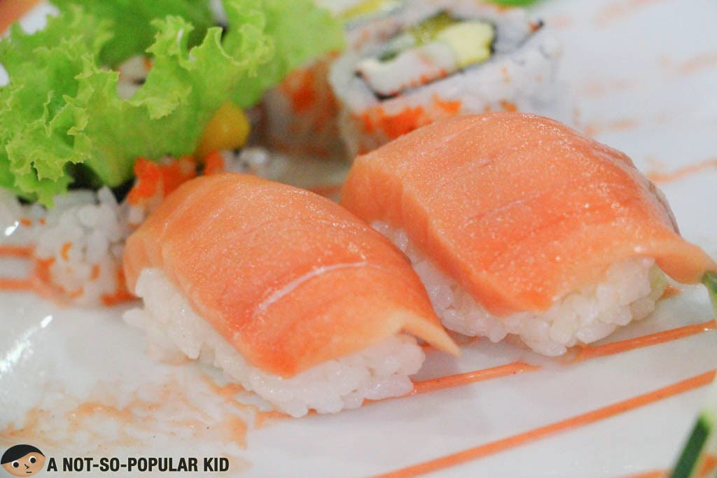 Salmon sushi of Nemoto Japanese Restaurant