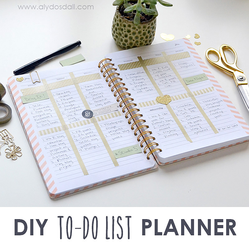 Aly Dosdall: DIY to-do list planner
