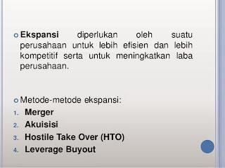 Merger, Akuisisi, Hostile Take Over dan Leverage Buyout dalam Ekspansi Bisnis
