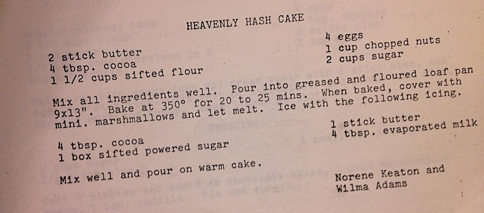 Heavenly Hash Angel Food Cake