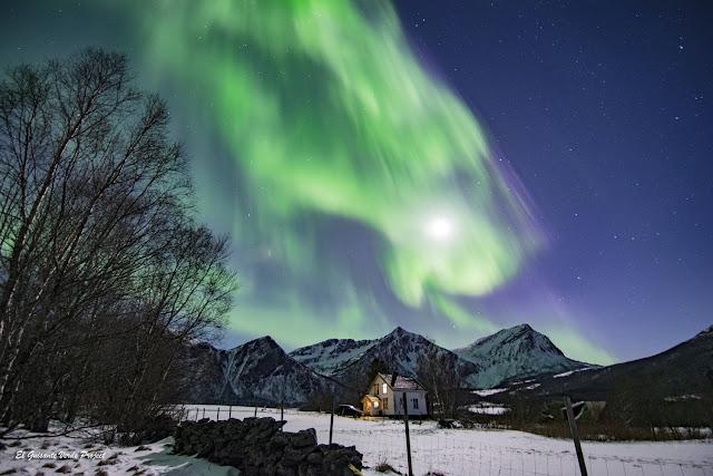 Noruega, Aurora Boreal en Engeloya por El Guisante Verde Project