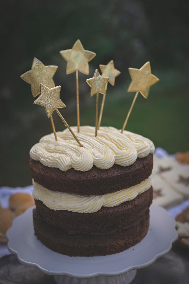 La Cocina de Carolina Tarta de cumpleaos de estrellas