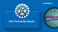 CSIO Technician Result