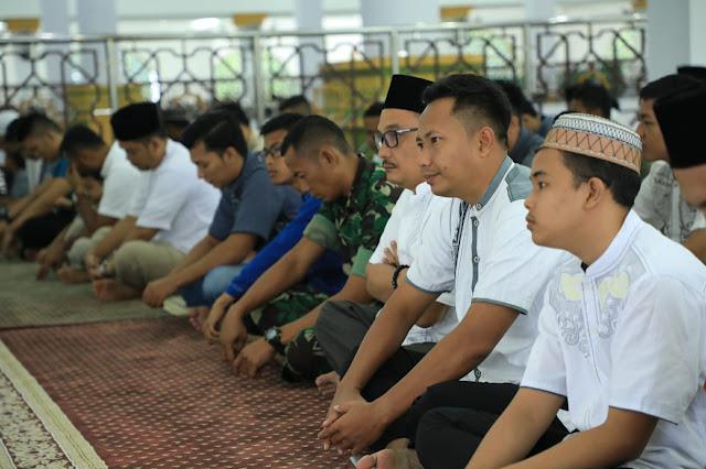 Kegiatan menyambut Idul Adha 1439 H di Masjid Agung Kisaran.