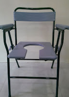 Padded Shower Chair With Cut Out Seat