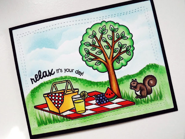 Sunny Studio Stamps:  Summer Picnic Card by Jamie Peters