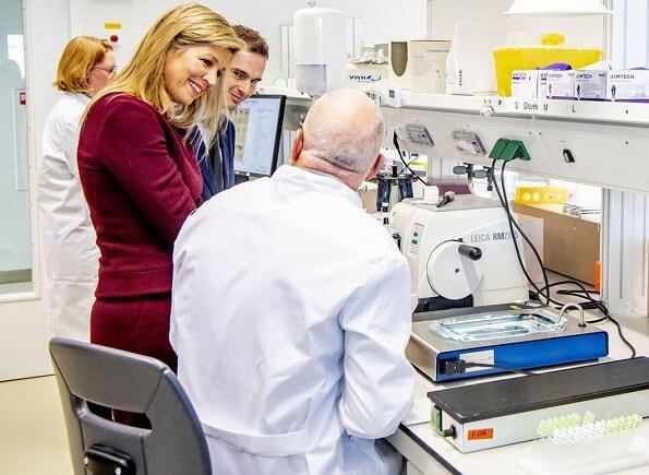 Queen Maxima visited the Department of Anatomy and Neurosciences at the VU University