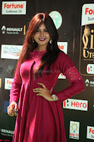 Monal Gajjar in Maroon Gown Stunning Cute Beauty at IIFA Utsavam Awards 2017 057.JPG