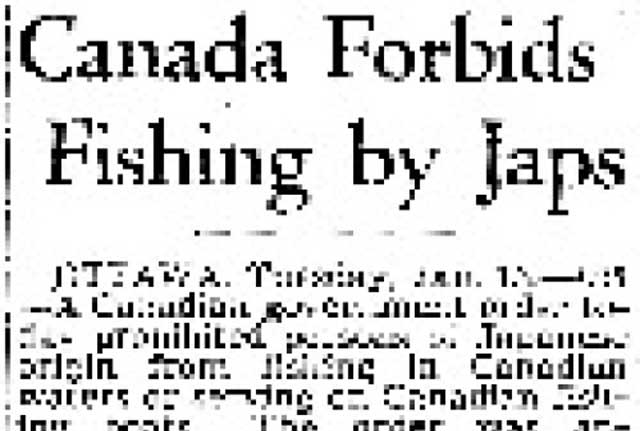 Japanese-Canadians barred from fishing, 13 January 1942 worldwartwo.filminspector.com