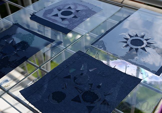 Sonnendruckhexis Quilt ©Müllerin Art