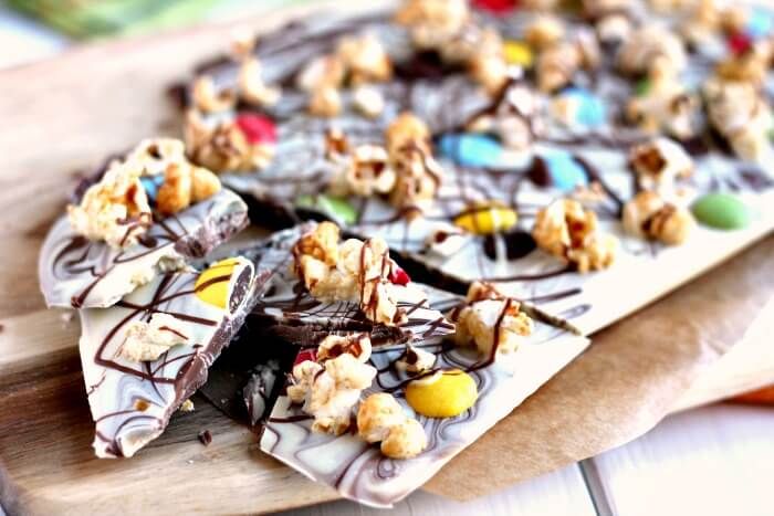 Chocolate Popcorn Bark