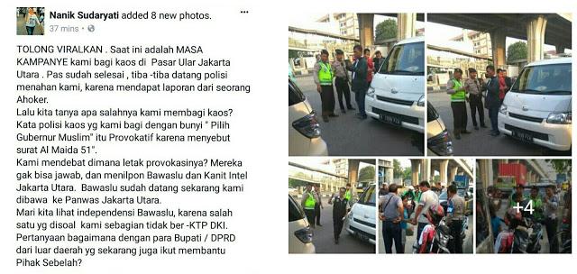 [BREAKING NEWS] Pendukung Anies-Sandi Dilaporkan ke Bawaslu Saat bagi-Bagi Kaos, Netizen: Kok Wakil Bupati Ciamis Gak Ditangkap?!