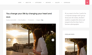 Scratch Clean and Responsive Blogger Template