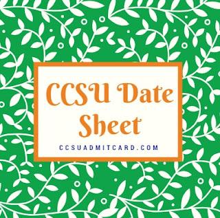 CCSU Date Sheet